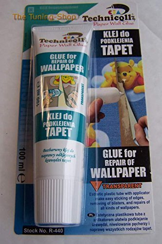 Technicqll 1 X 100Ml Clear Transparent Adhesive Glue For Repair Of Wallpaper Paper - Wallpaper Toys