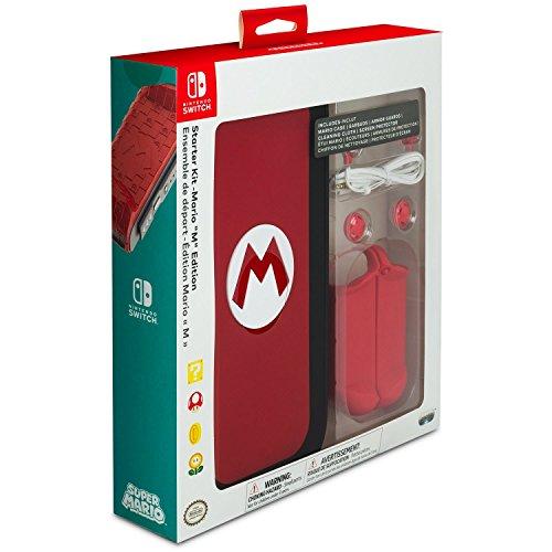 "Video Games : PDP Nintendo Switch Starter Kit - Mario ""M"" Edition - Nintendo Switch"