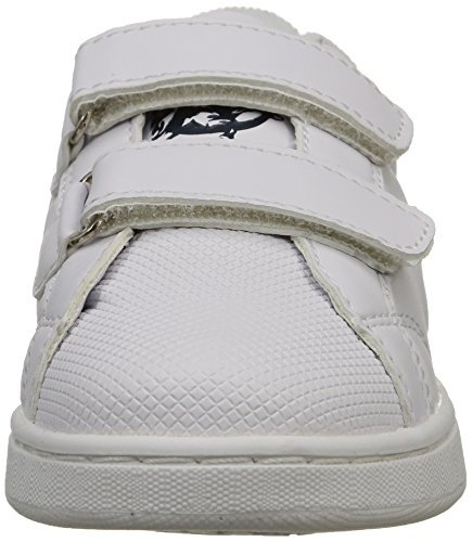 MTNG 69681 - Zapatillas de deporte unisex ACTION LEATHER PU BLANCO / SERRAJE PU MARINO