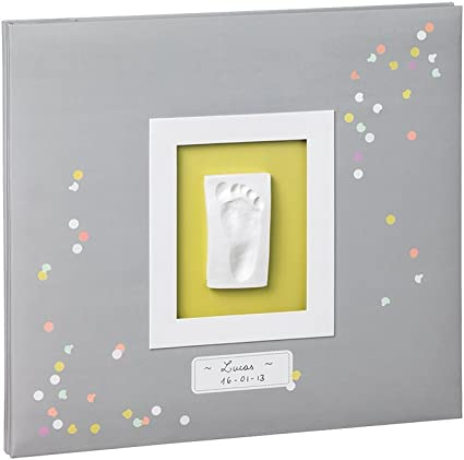 Album foto personalizzabile con calco della manina o del piedino del beb/è 34120118 Baby Art My Creative Photo Album