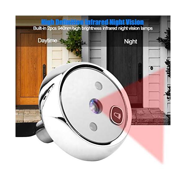 Visor Digital de Puertas, 3 Pulgadas TFT Pantalla LCD HD Timbre Visual con Mirilla Inteligente con visión Nocturna por…