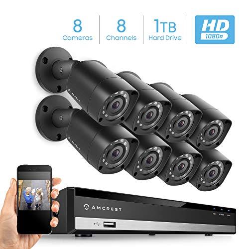 Amcrest HD 1080-Lite 8CH Video Security Camera System w/ 8 x 720p