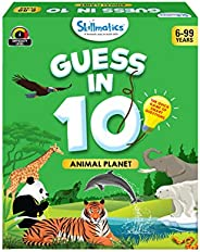 Skillmatics Guess in 10 Animal Planet - Card Game of Smart Questions for Kids & Families | Super Fun &