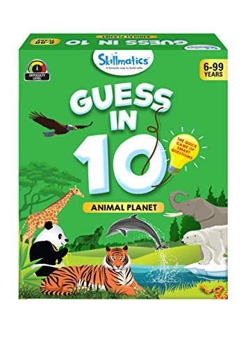 Skillmatics Educational Game : Animal Planet - Guess in 10 (Ages 6-99 Years) | Card Game of Smart Questions | General Knowledge for Kids, Adults and Families | Gifts for Boys and Girls (Best Little Big Planet Game)
