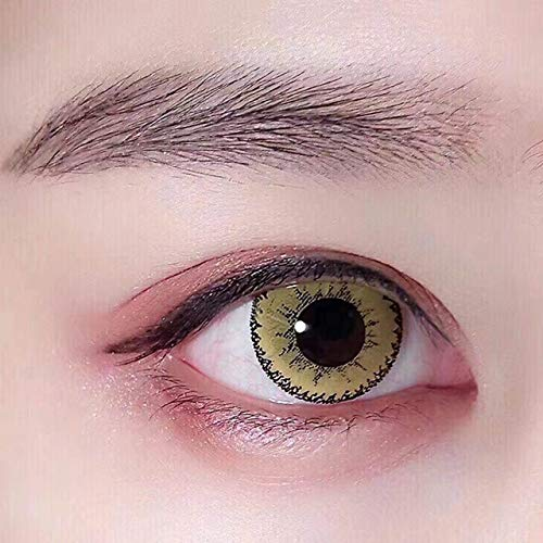 Women's multi-color cute charm and attractive color eye enhancer multi-color shadow, the most natural eye color change (Yellow)