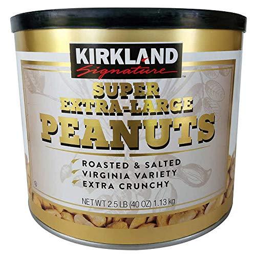 Kirkland Signature Expect More Super Extra Large Peanuts 2.5 lb (Extra Peanuts Large)
