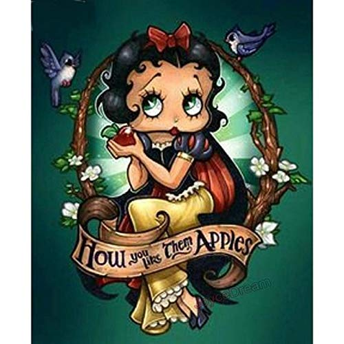 5D DIY Diamond Painting Marilyn Monroe Betty Boop Painting Mosaic Cross Stitch Picture Wall Décor Gift Home - Betty Pictures Boop
