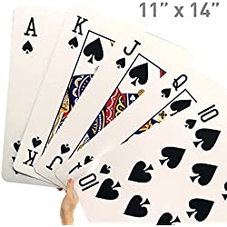 EasyGoProducts Giant Playing Cards – Novelty Jumbo Cards for Kids, Teens or Seniors – Large Print – Poker Full Deck of Cards