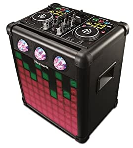 Numark Party Mix Pro – DJ Controller With Built-In Sound Reactive Light Show, Rechargeable Long-Life Portable Speaker, Easy-Pair Bluetooth Connectivity and DJ Software For Mac/PC/iOS Included