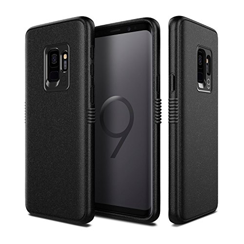 Samsung Galaxy S9 Case, Patchworks [Mono Grip Series in Black] One Piece TPU PC Hybrid Dual Material Matte Extreme Grip Slim Fit with Added Air Pocket and Drop Tested Hard Case for Galaxy S9