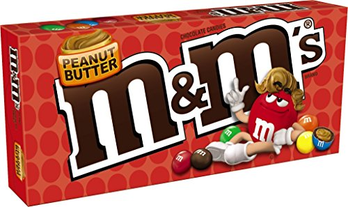 M&M'S Peanut Butter Chocolate Candy 3-Ounce Movie Theater Box (Pack of 12) ()