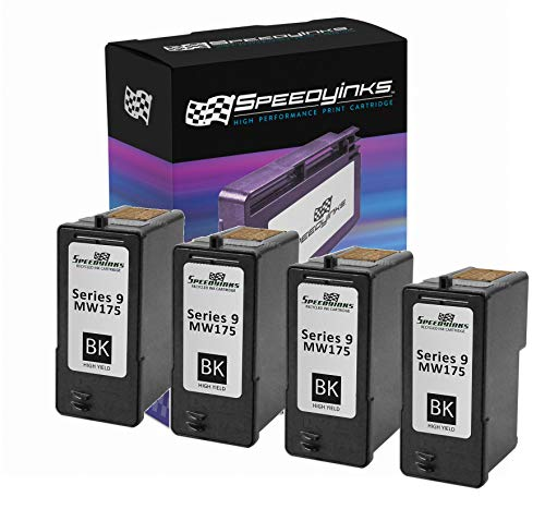 Speedy Inks Remanufactured Ink Cartridge Replacement for Dell MK992/ MW175 Series 9 High-Yield (Black, 4-Pack)