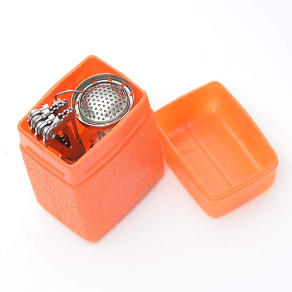 YXCXC Wild Camping Integrated Mini Stove Head with Electronic Ignition Portable Stove Stove Cooker Travel,Silver by YXCXC (Image #7)
