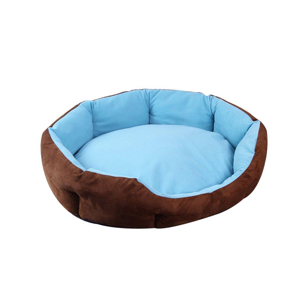 bluee 4550cm bluee 4550cm DDSS Small Pet Sofa Pet Bed Dog Mat Pet Mat Pet Sleeping Pad Pet Supplies Cat Nest Four Seasons Universal Soft Sleeping pad (color   bluee, Size   45  50cm)