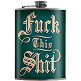 Flask - Fck this Shit - Fun Fuck This Shit novelty gift flask silly blue gag- comes in a gift box by Trixie & Milo