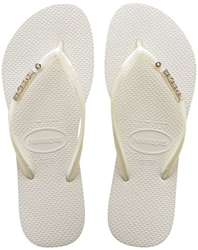 Havaianas Unisex - Erwachsene Brasil Zehentrenner, Weiß (Brasil White), 43/44 EU (41/42 Brazilian)