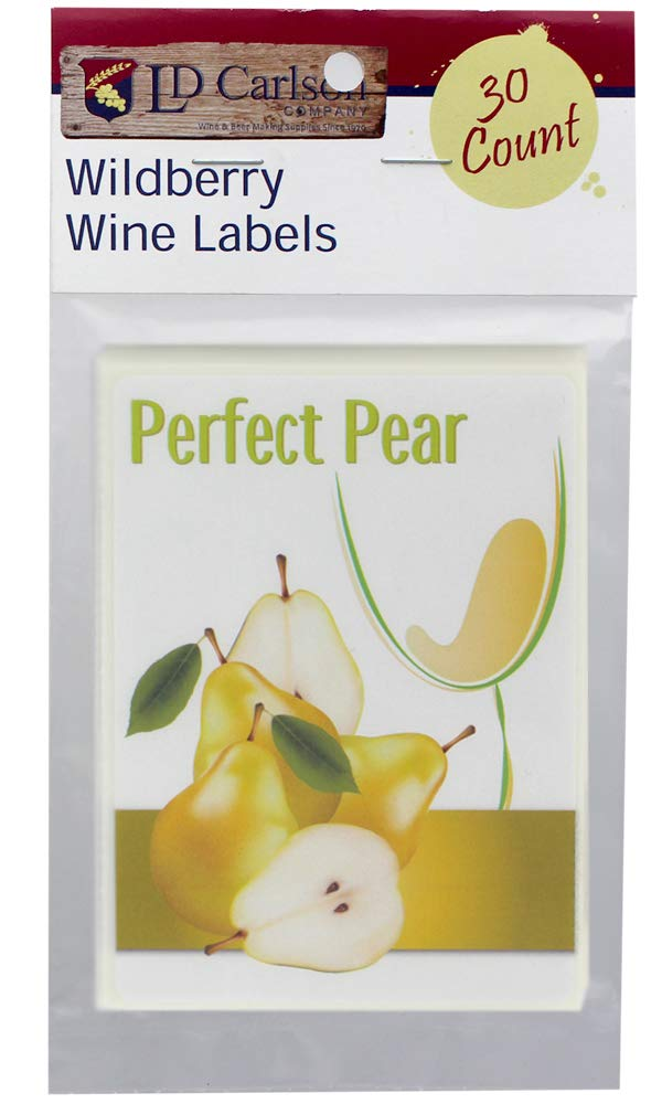 Home Brew Ohio  Mist Wine Labels (Perfect Pear Mist)