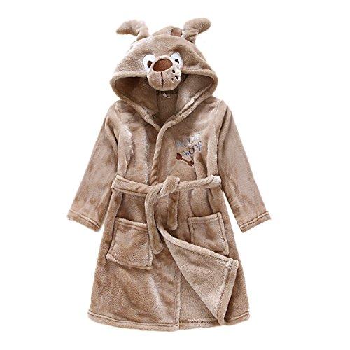 Coat Dog Plush (JUNG KOOK Toddler Baby Boys Girls Cartoon Bathrobe Flannel Robe Winter Night-Robe)