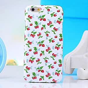 QYF Hi-Q Strawberry Water Decals Pattern TPU Soft Case for iPhone6