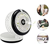 Personal Fan Cooling Misting Fan, Portable Desktop Rechargeable USB Mini Cooling Humidifier for Beauty, Home, Office and Travel (black)