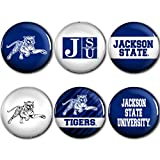 WinCraft Jackson State Tigers Official NCAA Metal Button Badge Pin Set 6 Pack 990013
