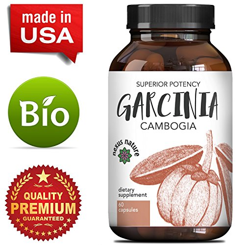 Best Garcinia Cambogia 95% HCA Weight Loss Vitamins - Fast Acting Fat Burn Supplements for Men & Women - Natural Appetite Suppressant Capsules - High Quality Capsules Boost Energy - By Nexus Nature