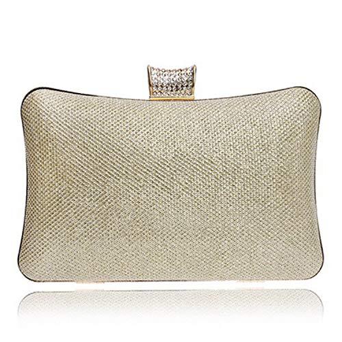 Flower Women Evening Bags Diamonds Sequined Leaf Beaded Lady Day Clutches With Chain Shoulder Handbags,Ym1093Gold