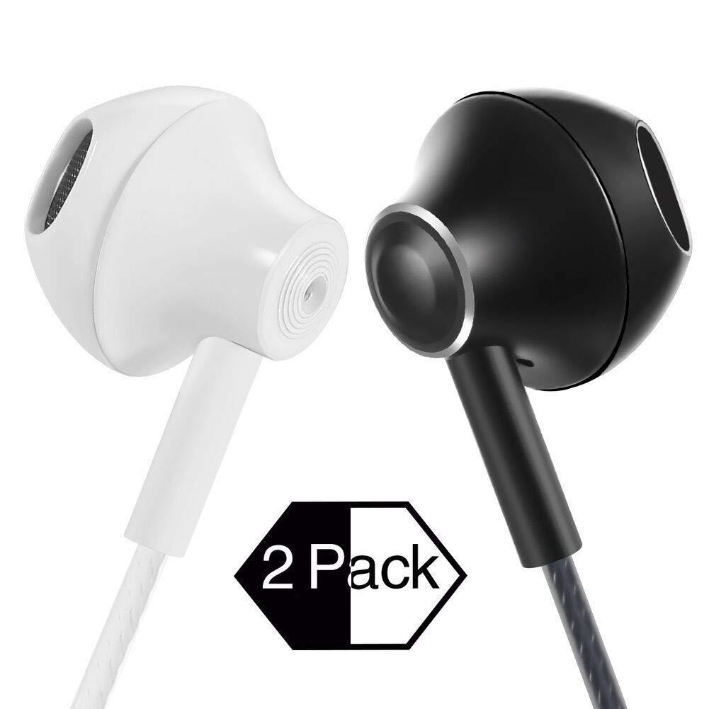 Senhomtog Earbuds with microphone Earphones In-Ear headphones for iphone, ipad, Android, Samsung