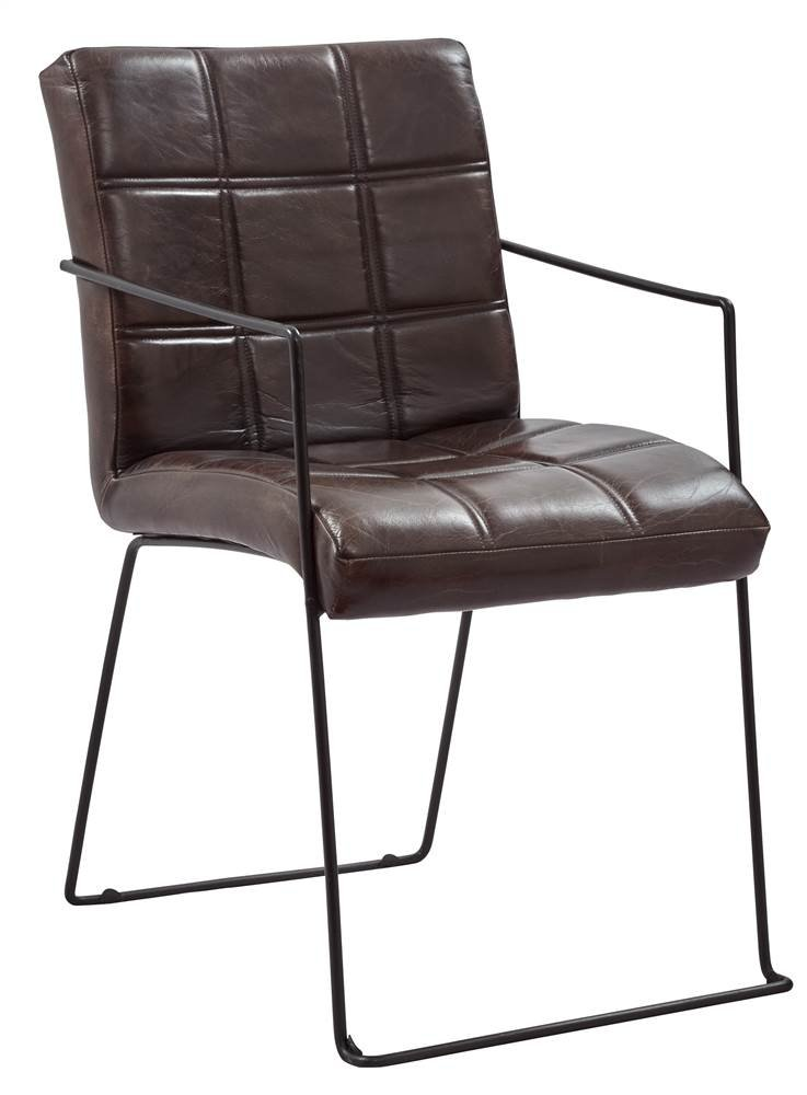 Dining Chair in Brown Finish - Set of 2