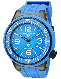 Swiss Legend Men's 21818S-C-K-DD Neptune Analog Display Swiss Quartz Blue Watch