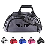 Elite Sports New Item Warrior Series Boxing MMA BJJ Gear Gym Duffel Backpack Bag (Grey, Large) Review