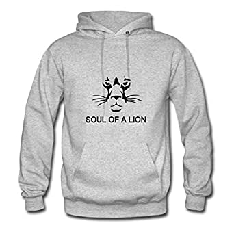 Off-the-record Soul Of A Lion Hoodies Grey X-large Women