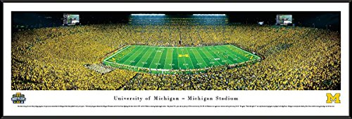 Michigan Football - Under The Lights - 2013 50 Yard Line - Blakeway Panoramas Print (U Of M Football compare prices)