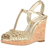 Adrianna Papell Women's Franklin Wedge Sandal, Matte Gold, 7 M US