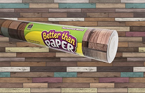 Wood Roll (Teacher Created Resources Reclaimed Wood Better Than Paper Bulletin Board Roll (TCR77399))
