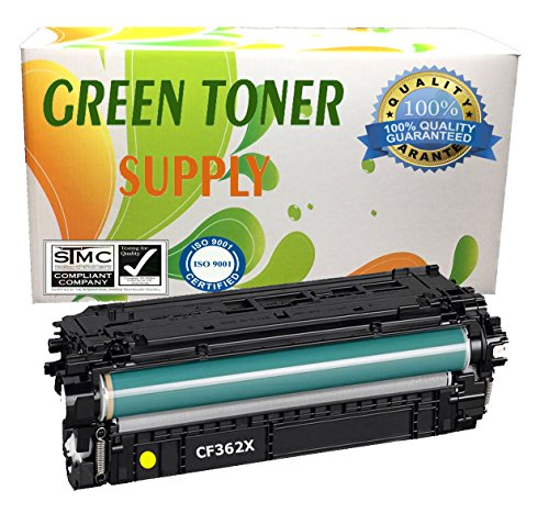 GTS Compatible Toner Cartridge Replacement for HP CF362X ( Black,Yellow )