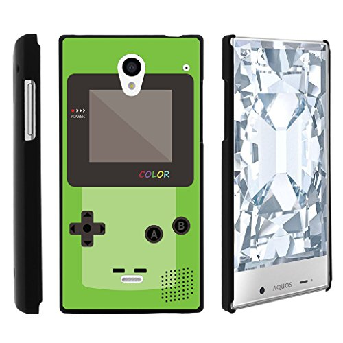 Aquos Crystal case, 306SH Cover, Perfect Fit Cell, Sharp Aquos Crystal 306SH Shell Cool Designs Collection by Miniturtle - Green Gameboy Color
