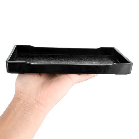 Amazon.com: DealMux plástico Retângulo Design Almoço Food Bandeja Container Preto: Kitchen & Dining