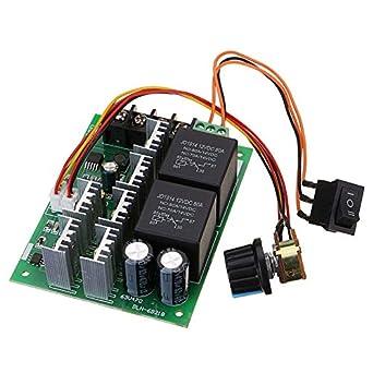 DC 10V-50V 12V//48V 60A PWM CCW CW Reversible Switch DC Motor Speed Controller
