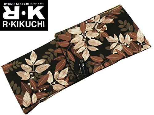 保険ログバングRK キクチリョウコ 袷 小紋 着物 フリーサイズ 黒 pk-145