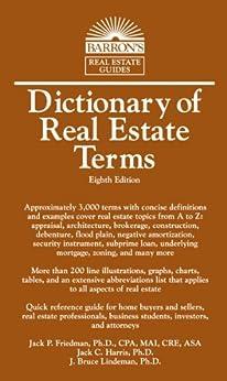 Amazon.com: Dictionary of Real Estate Terms (Barron's Business Dictionaries) eBook: Jack P ...