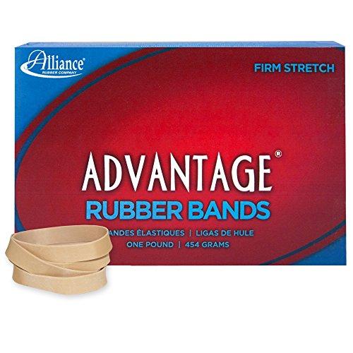 Alliance Rubber 26845 Advantage Rubber Bands Size #84, 1 lb Box Contains Approx. 150 Bands (3 1/2 x 1/2, Natural Crepe)