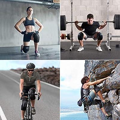 OMERIL Rodillera Menisco y Ligamentos, 2 Rodilleras Transpirable y Antideslizante para Hombre y Mujer, Rodillera Deportiva Compresion para Crossfit, Correr, Entrenamiento, Baloncesto, Bicicleta - XL: Amazon.es: Deportes y aire libre