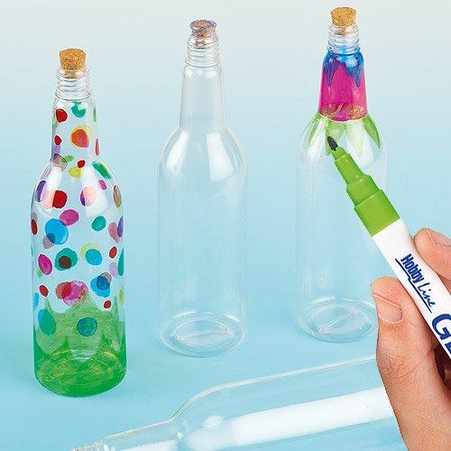 Amazon Com Baker Ross Ltd Plastic Art Bottles With Cork For