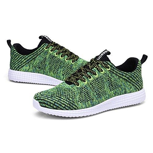 Walking Lightweight Green Run 8258 Sport Shoes Trainers Gym Womens Mesh TIOSEBON wPF7q