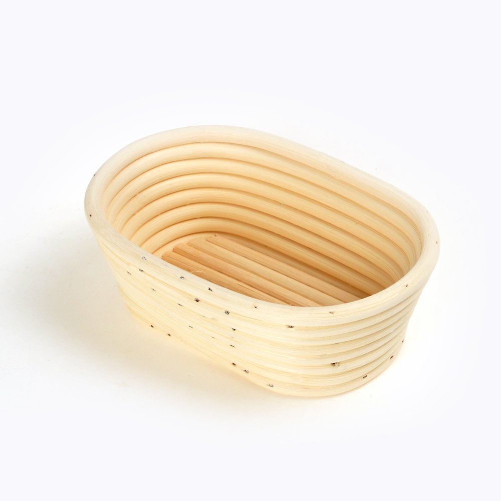 17cm Small Oval Bread Proving Basket Bannetons Brotform Sour Dough Proofing grandtobuy