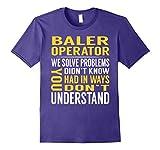 Mens Baler Operator Solve Problems TShirt 3XL Purple