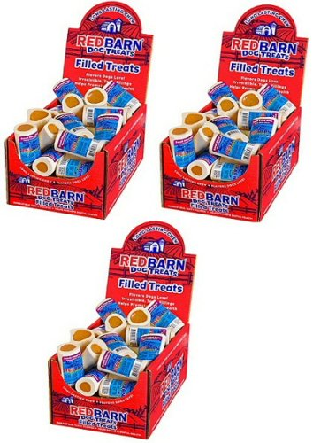 Red Barn Dog Treats Filled Bones Peanut Butter, Small 60ct (3 x 20ct)