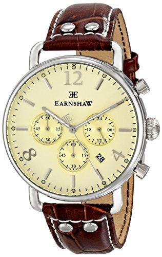 Thomas Earnshaw Men's ES-8001-05 Investigator Brown Leather Watch