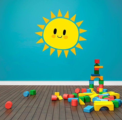 Cute Sun Smiling Kids Theme Wall Decal Vinyl Home Decoration - 20
